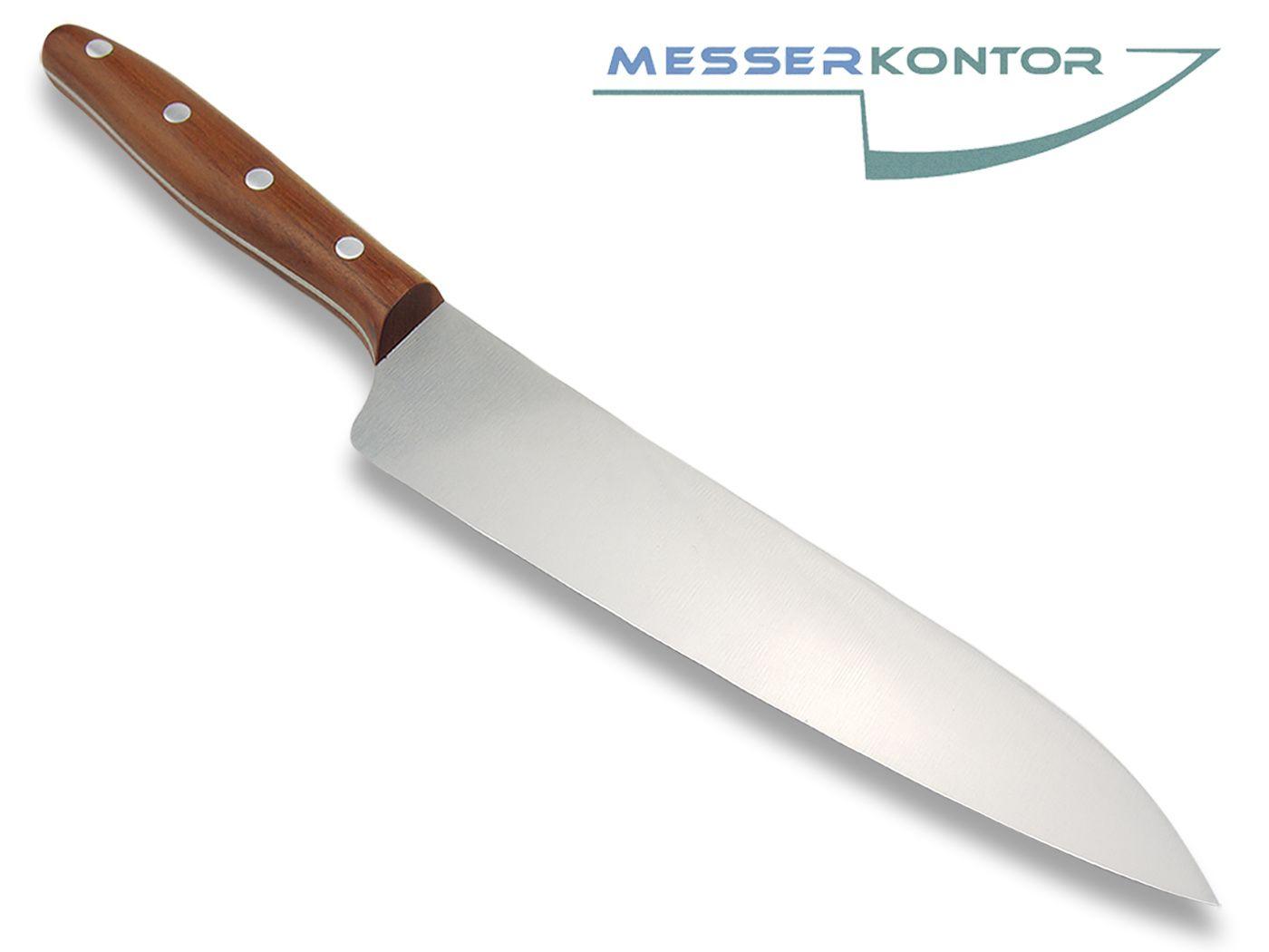 Herder K Chef Extra Grosses Kochmesser 22 5cm Nicht Rostfrei Pflaumenholzgriff Messerkontor
