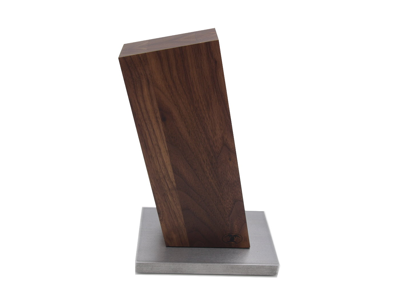 blockwerk messerblock magnetisch 13 grad nussbaum mit stahlsockel messerkontor. Black Bedroom Furniture Sets. Home Design Ideas